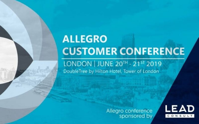 LEAD CONSULT TO SPONSOR ALLEGRO CUSTOMER CONFERENCE 2019