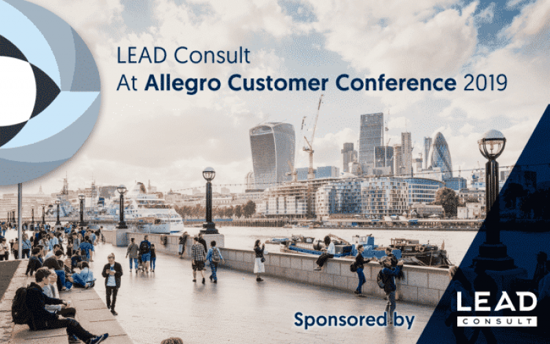 LEAD CONSULT AT ALLEGRO CUSTOMER CONFERENCE 2019